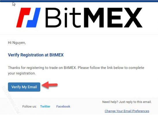 Kích hoạt tài khoản Bitmex