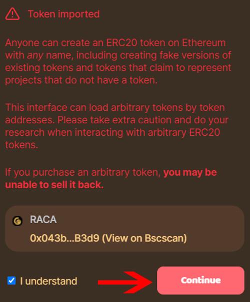 Cách mua RACA Token