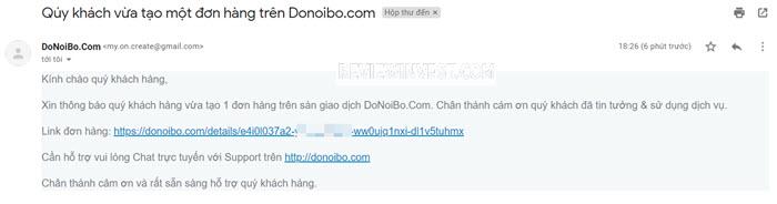 Email đơn hàng mới