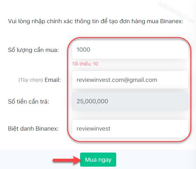 Mua Binanex trên DoNoiBo.Com