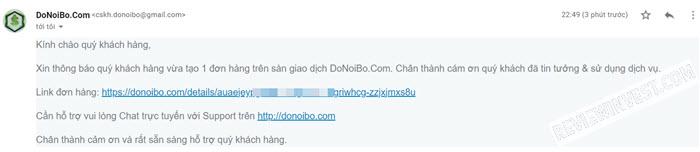 Hoá đơn mua Bitono trên DoNoiBo.Com