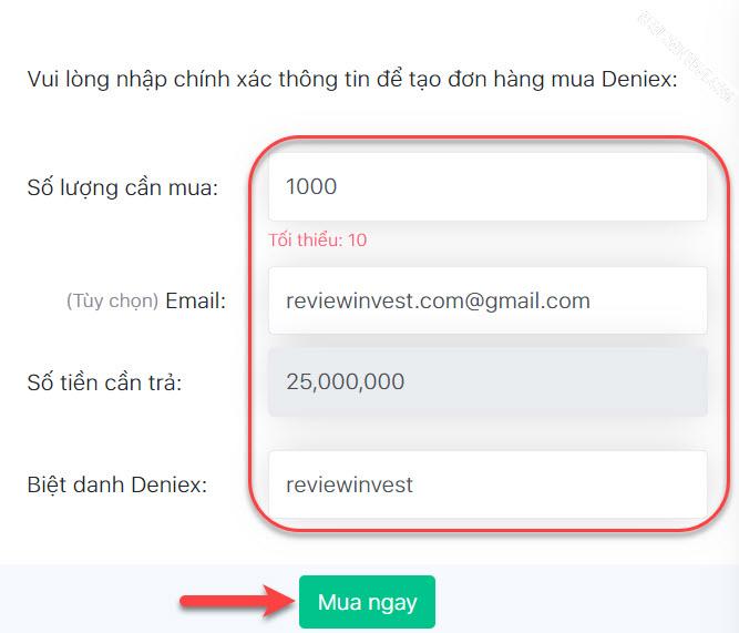 Mua Deniex trên DoNoiBo.Com