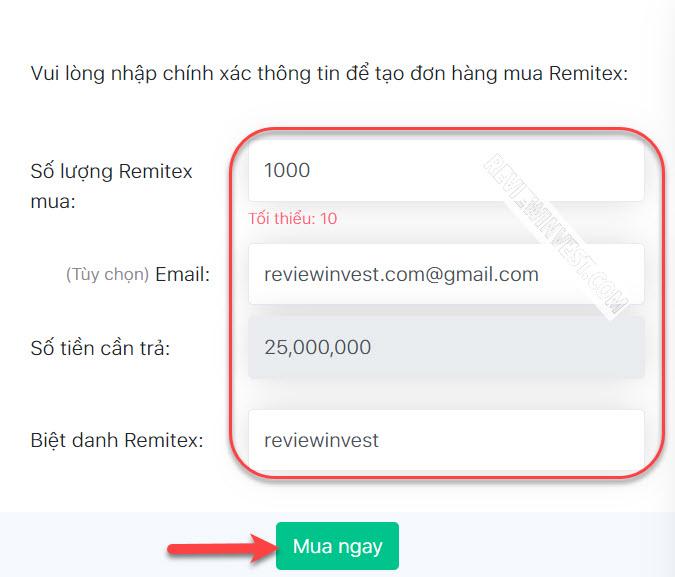 Mua USDT Remitex trên DoNoiBo.Com