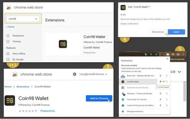 Cài đặt Coin98 Wallet Extension trên Chrome