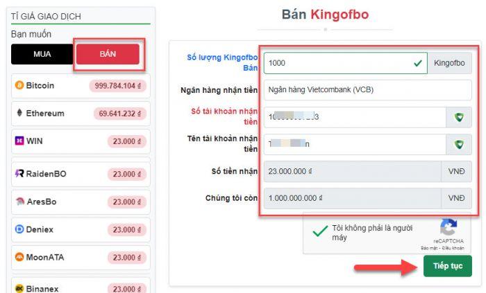 Bán Kingofbo trên Muabancoin.io