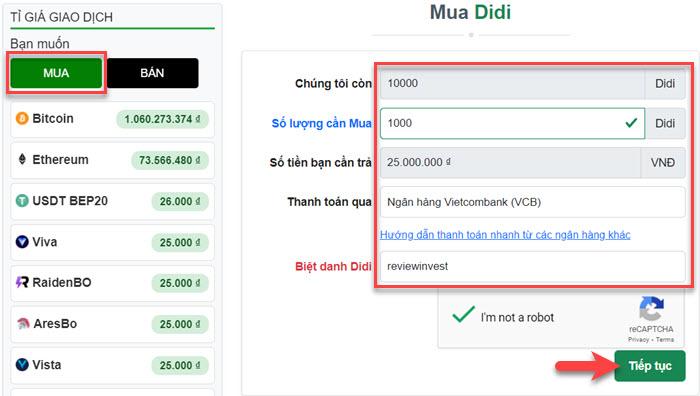 Mua Didi (Remitex) trên Muabancoin.io