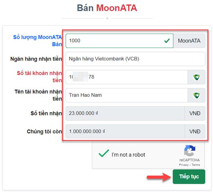 Bán MoonATA trên Muabancoin.io