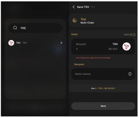 Chọn Send ở trang chủ và chọn token/coin vào địa chỉ mà bạn muốn gửi