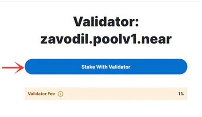 Nhấn chọn Stake With Validator để xác nhận
